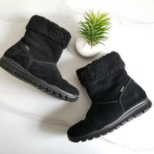 Primigi Black Suede Leather Gore-Tex Short Boots
